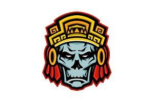 Aztec Warrior Skull Mascot