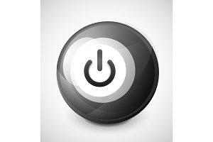 Start power button, ui icon design, on off symbol