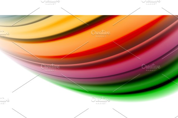 Gel Jelly Fluid Flowing Liquid Rainbow Style Colours Wave Abstract Background Modern Minimal Colorful Design