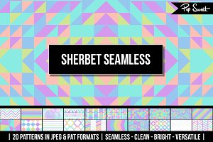 20 Sherbet Seamless Patterns