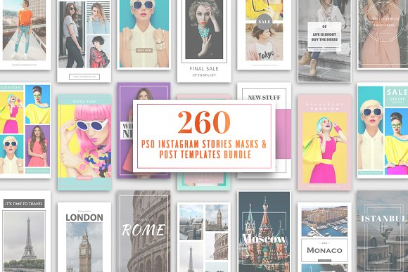 260 Instagram Stories Templates