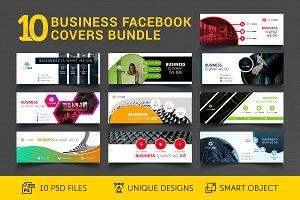 10 Business Facebook Covers Bundle