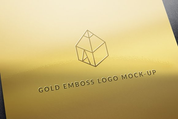 Free Gold Emboss Logo Mock-Up