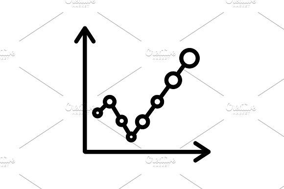 Web Line Icon Graph Black On White