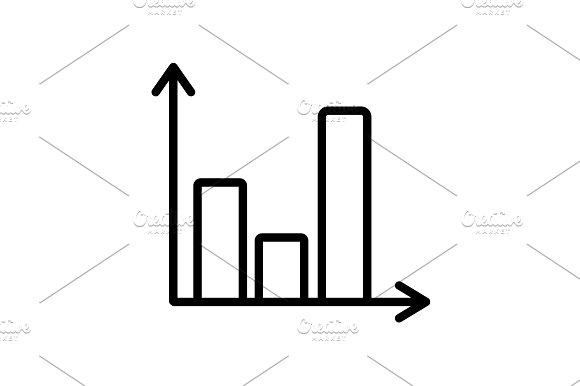 Web Line Icon Business Graph Black