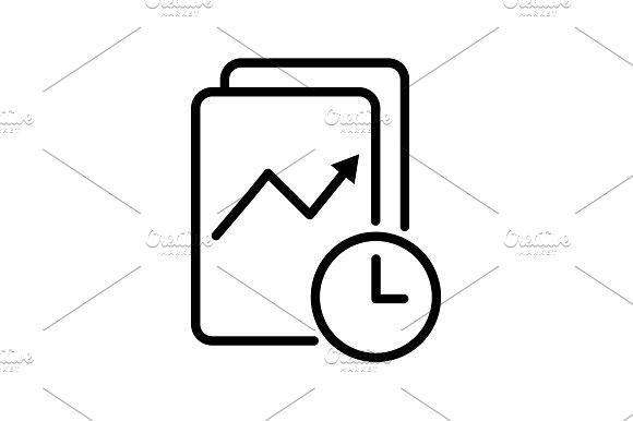 Icon Clock And Graph Analytics
