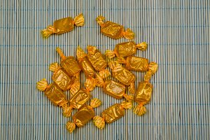 Golden candies wrapped.jpg