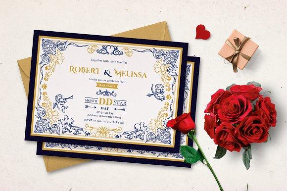 ORNAMENT WEDDING INVITATION
