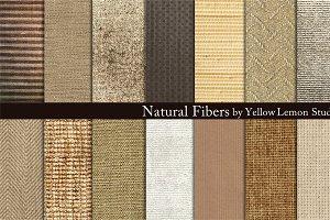 Natural Fibers burlap, linen, woven
