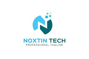Noxtin Tech Logo Template