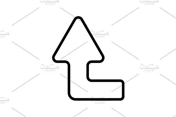 Web Line Icon Arrow Left-up Black