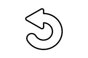 Web line icon. Circular arrow black