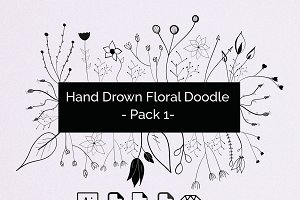 Hand Drown Floral Elements