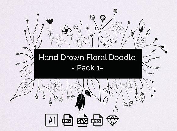 Hand Drown Floral Elements
