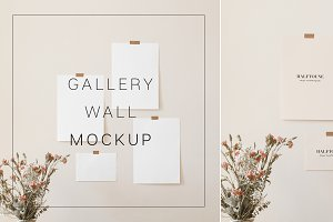 Gallery Wall Mockup, Wall Art Mock