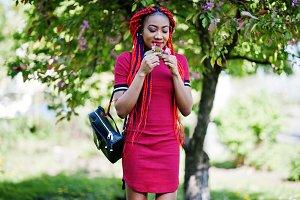 Stylish african american model girl
