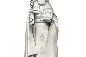 Pope Sculpture Isolated Photo