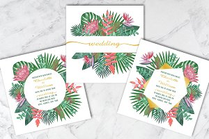 Wedding Tropical Set