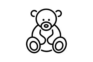 icon. Teddy bear, children's toy