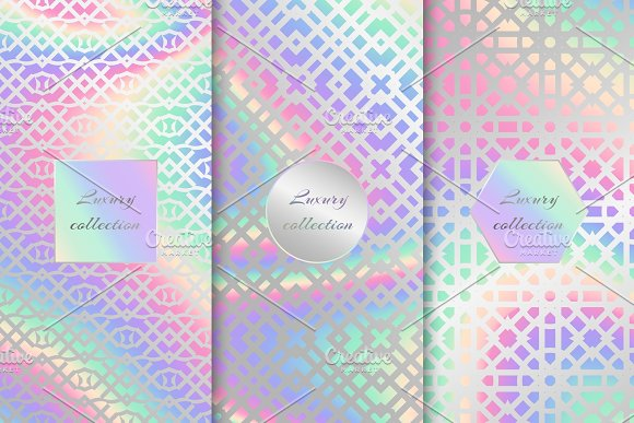 Set Of Arabic Holographic Backgrounds