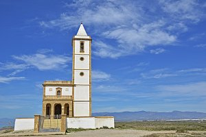 Church in the natural park of Cabo de Gata, Spain