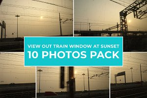 10 Photos - View Out Train Window