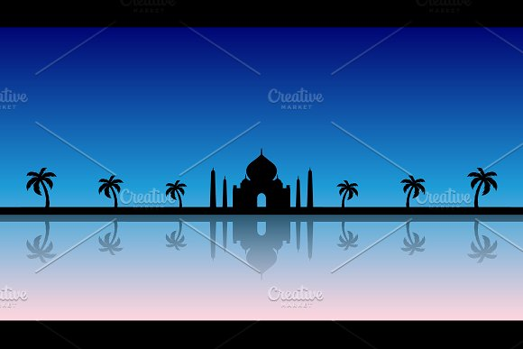 A Fairytale Background Silhouette