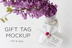 Wedding Gift & Favor Tag Mockup PSD
