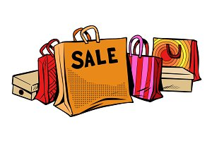 bags sale, season discount Isolate on white background