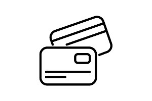 Web line icon. Business&#x3B; Credit card