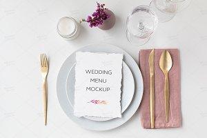 5x7 Wedding Menu Mockup PSD