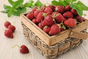 Basket full of strawberries