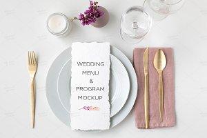 Wedding Menu / Program Mockup
