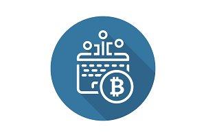 Bitcoin Mining Icon.