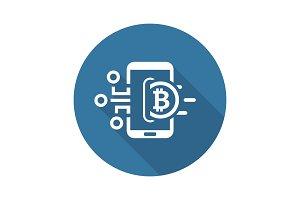 Bitcoin Wallet Icon.