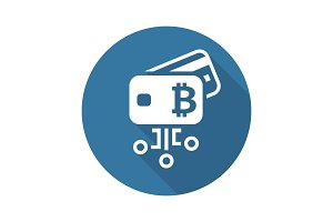 Bitcoin Debit Card Icon.