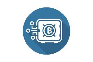 Bitcoin Safe Box Icon.