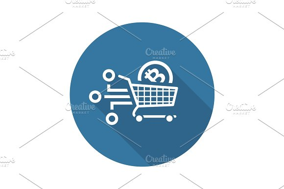 Shopping With Crybtocurrency Icon