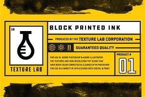Texture Lab - Block Printed Ink