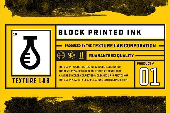 Texture Lab Block Printed Ink