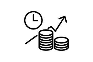 icon. Business idea&#x3B; profitable