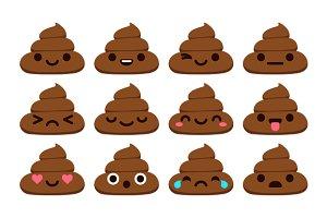 Poop emoticons