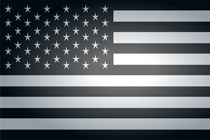 American flag faded vector