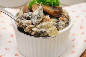 Mushrooms baked