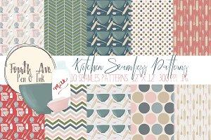 Farmhouse Kitchen Seamless Patterns