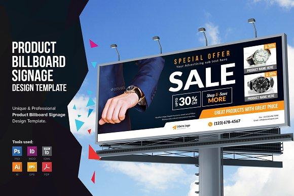 Product Promotion Billboard Signage