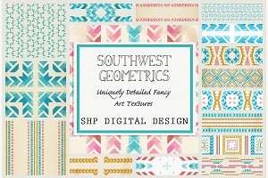 Southwest Geometric Folk Patterns