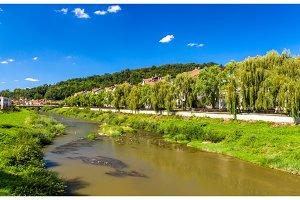 Tarnava Mare River in Sighisoara, Romania