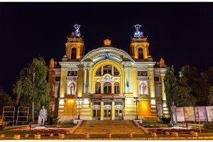 Cluj-Napoca National Theatre by night - Romania