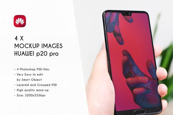 Download 4 Huawei P20 Pro Mockup